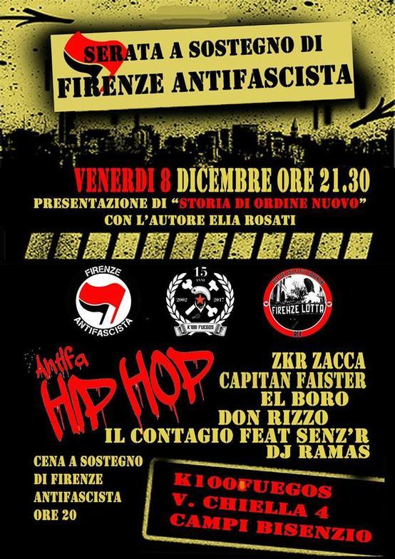 Serata sostegno Firenze Antifascista