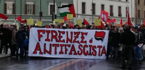 Firenze Antifascista corteo per Samb e Diop a San Jacopino