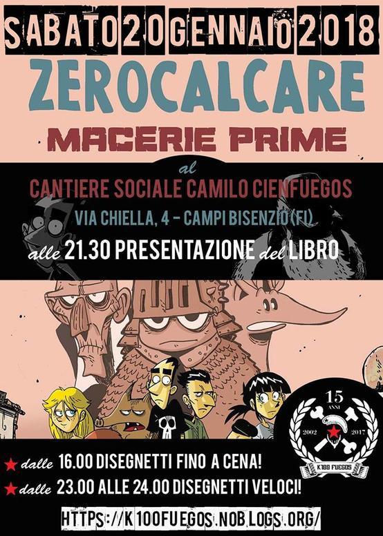 ZERO CALCARE presenta il suo ultimo fumetto MACERIE PRIME