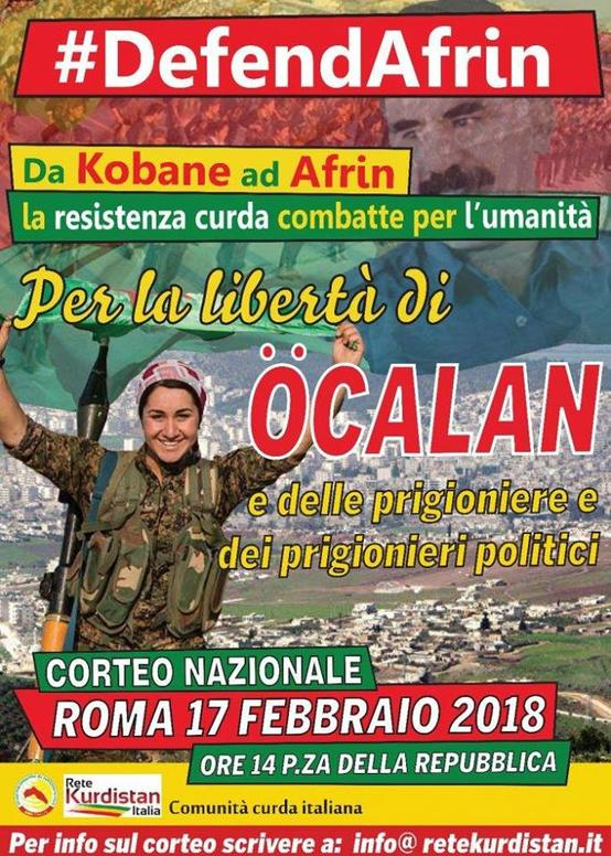 Sabato 17 Febbraio a Roma manifestazione nazionale di sostegno alla resistenza Kurda – pulman da Firenze