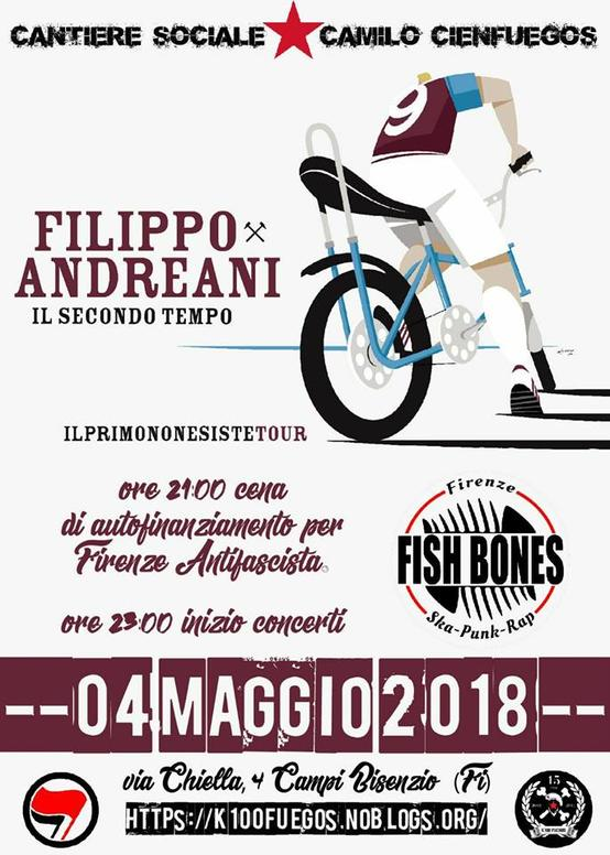 Benefit Firenze Antifascista Filippo Andreani e Fish bones
