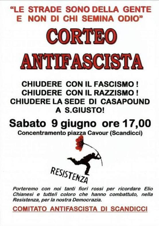 Corteo antifascista Scandicci
