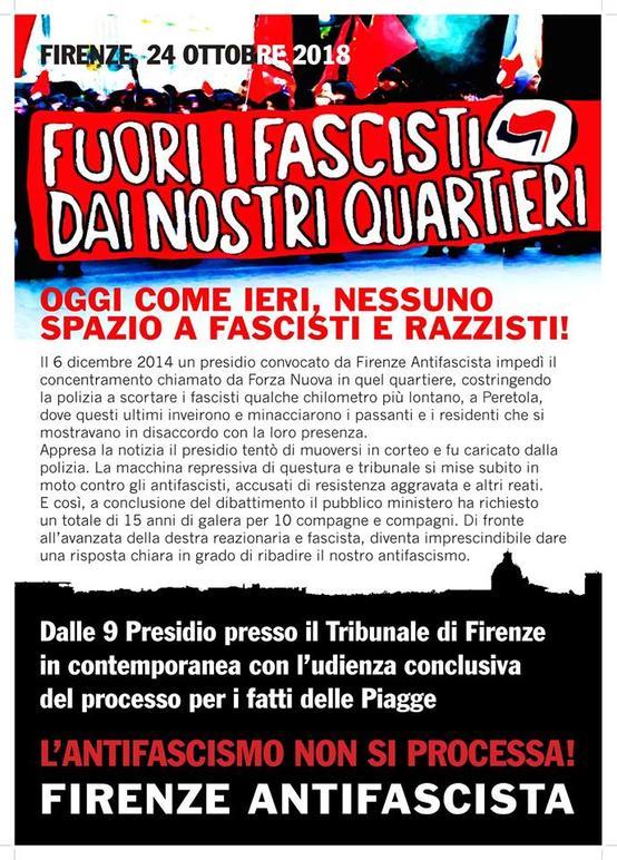 L'antifascismo non si processa