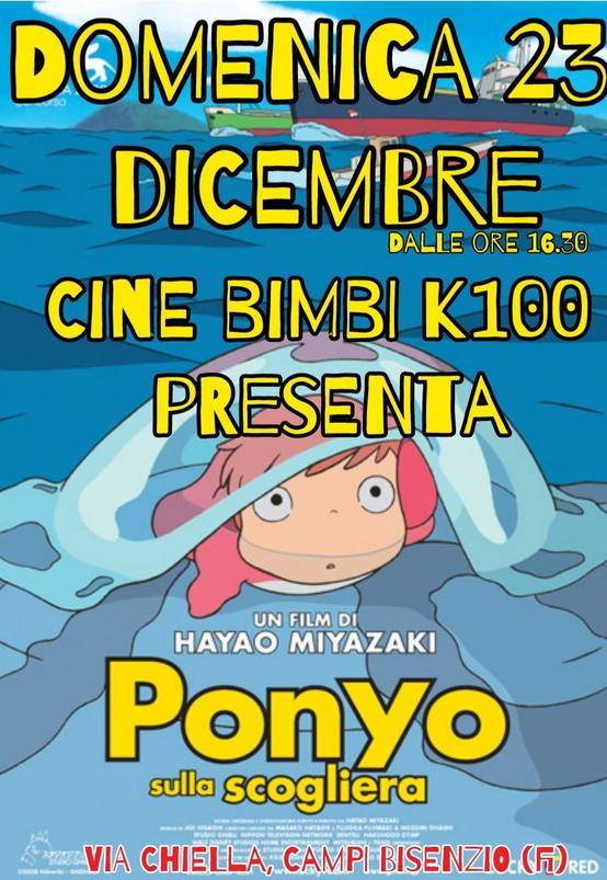 CineBimbi Ponyo sulla scogliera