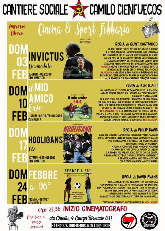 CineK100 di Febbraio dedicato al calcio.