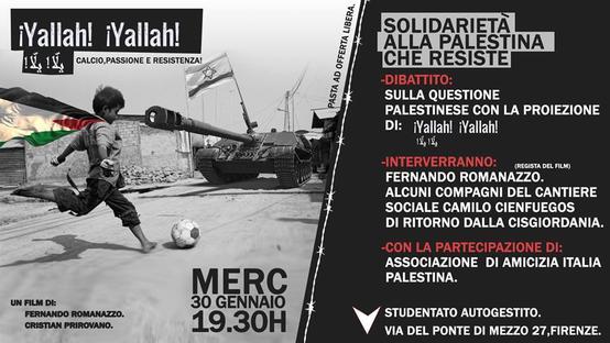 Solidarietà alla Palestina che resiste!