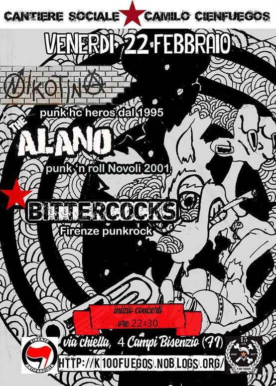 Serata punk Nikotina Alano Bittercocks
