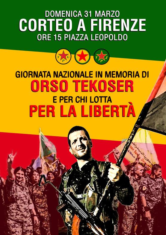 """Giornata nazionale per Orso """"tekoser"""" e per tutti i combattenti per la libertà"""