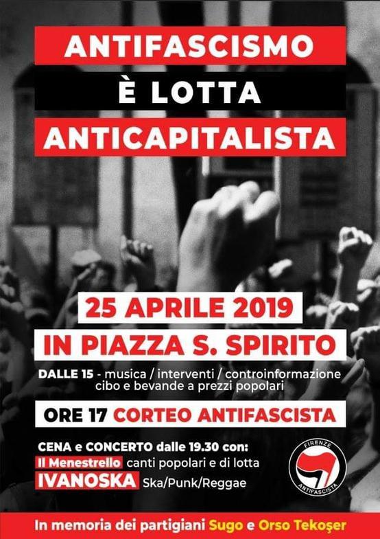 25 Aprile 2019 in Piazza Santo Spirito
