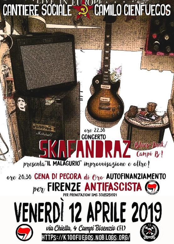 Pecora Antifascista e concerto Skafandraz