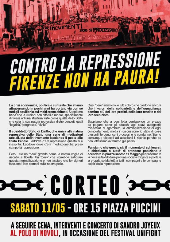 corteo contro repressione