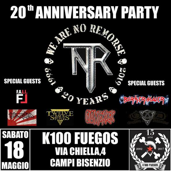 No remorse 20 th anniversary