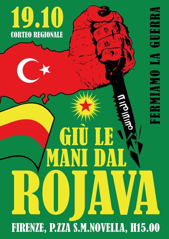 Fermiamo la guerra, giù le mani dal Rojava