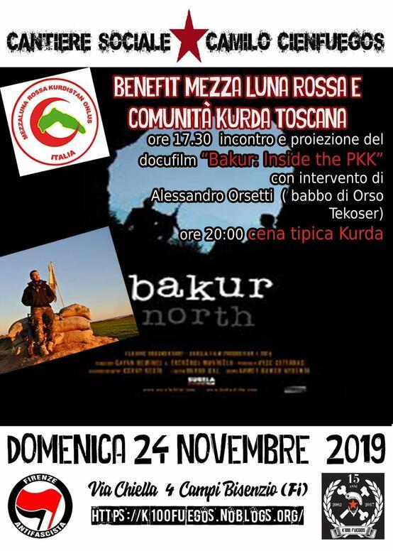 Benefit Mezza luna rossa e comunità Kurda Toscana