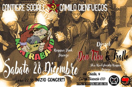 Sabato 28 Dicembre 2019 Serata ska rock steady reggae