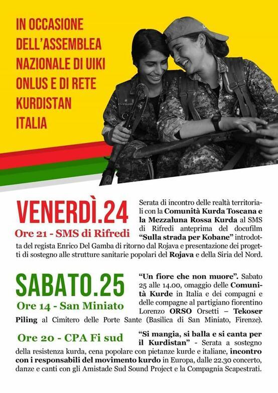 A Firenze in occasione della due giorni di Uiki e rete Kurdistan Italia