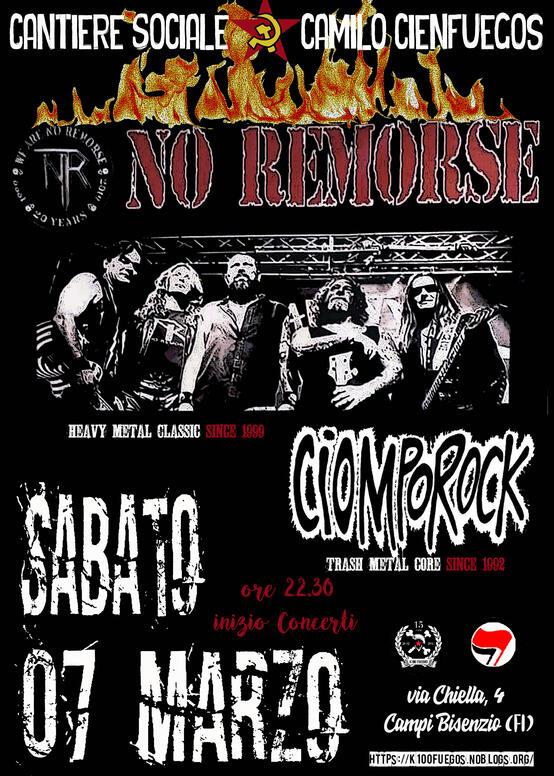 Serata metal No remorse Ciomporock