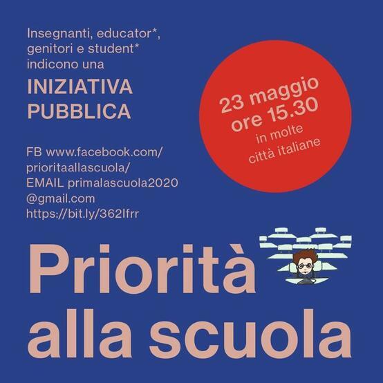 Iniziativa pubblica, manifestazione per la scuola.