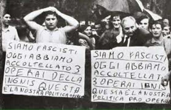 Gli operai Ignis respingono i fascisti a Trento