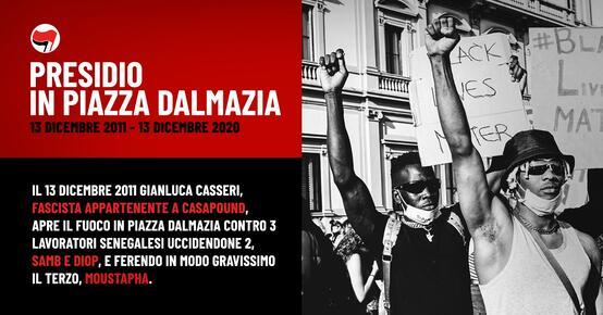 Presidio in piazza Dalmazia - Non dimentichiamo, non perdoniamo.