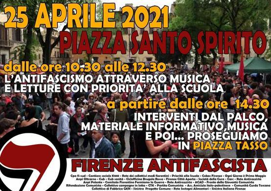 Domenica 25 aprile 2021 in piazza Santo Spirito
