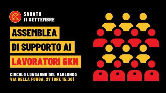 Assemblea di supporto ai lavoratori GKN - Firenze