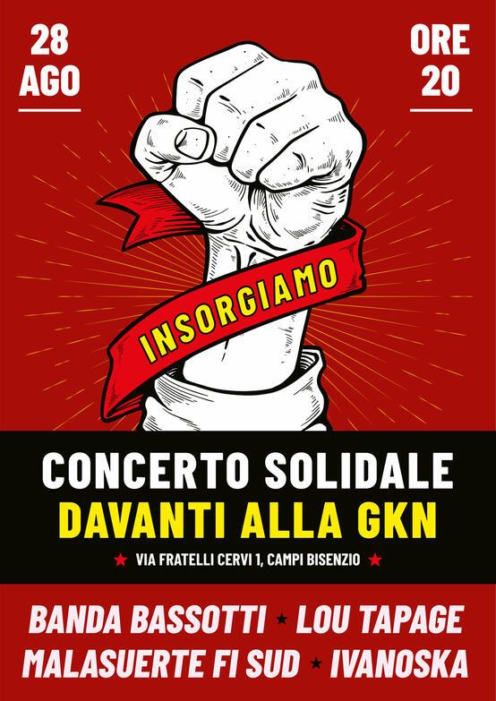 Concerto solidale davanti alla Gkn