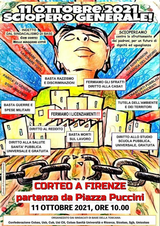 Corteo a Firenze per lo Sciopero Generale